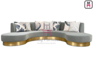 Endless Arch Shape Commercial Booth Seating, Tapicerka Sofa Fabric Z SS Base