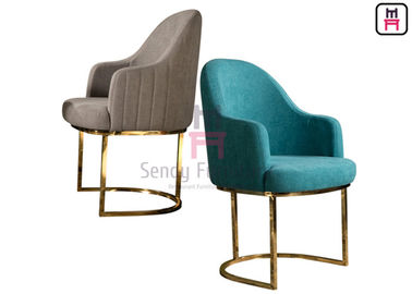 Blue Velvet Cantilever Chair Stainless Steel Restaurant Chairs Indoor For Lobby