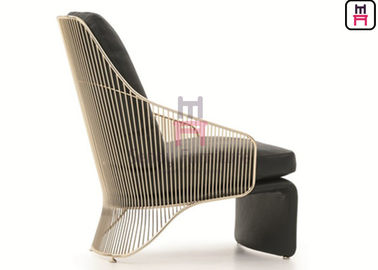 Gold / Chrom Color Furniture Sofa Chair Stainless Steel Chaise Longues For Hotel